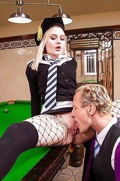 Scarlett Knight Fucks teacher on Pool Table