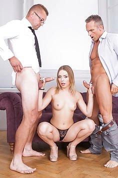 Teen Daniella Margot enjoys threesome