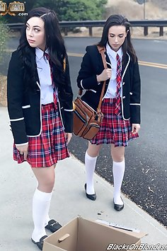 Horny Schoolgirl Share Black Cock